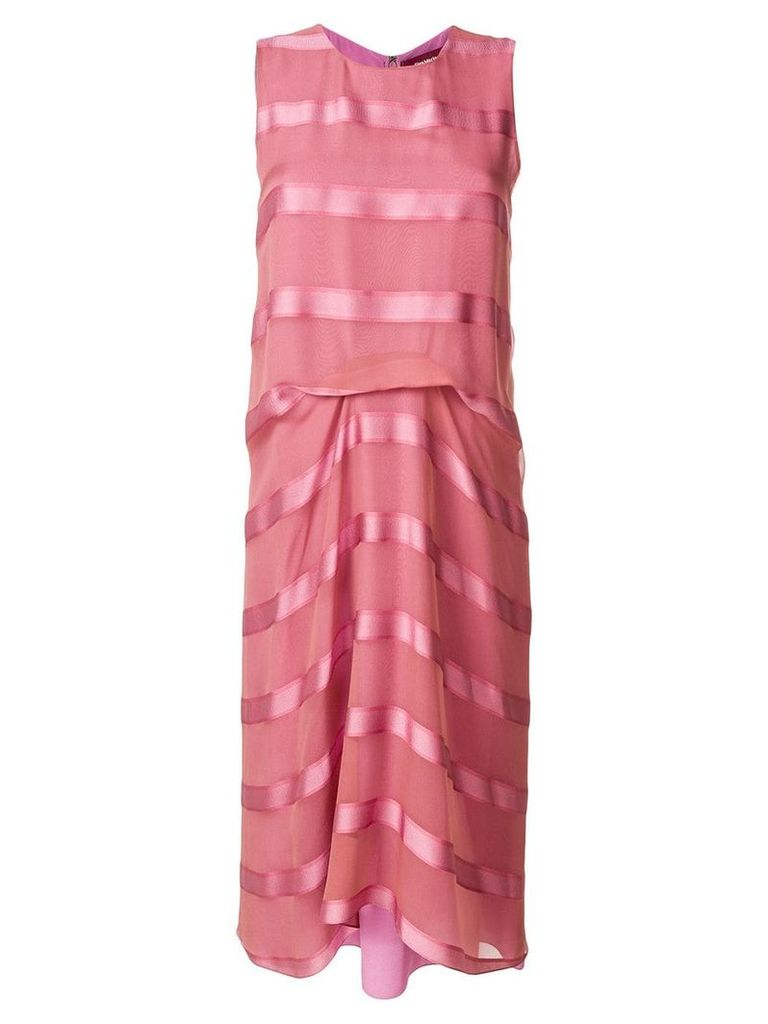 Sies Marjan satin stripe sleeveless midi dress - Pink