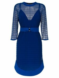 Gloria Coelho tulle belted dress - Blue