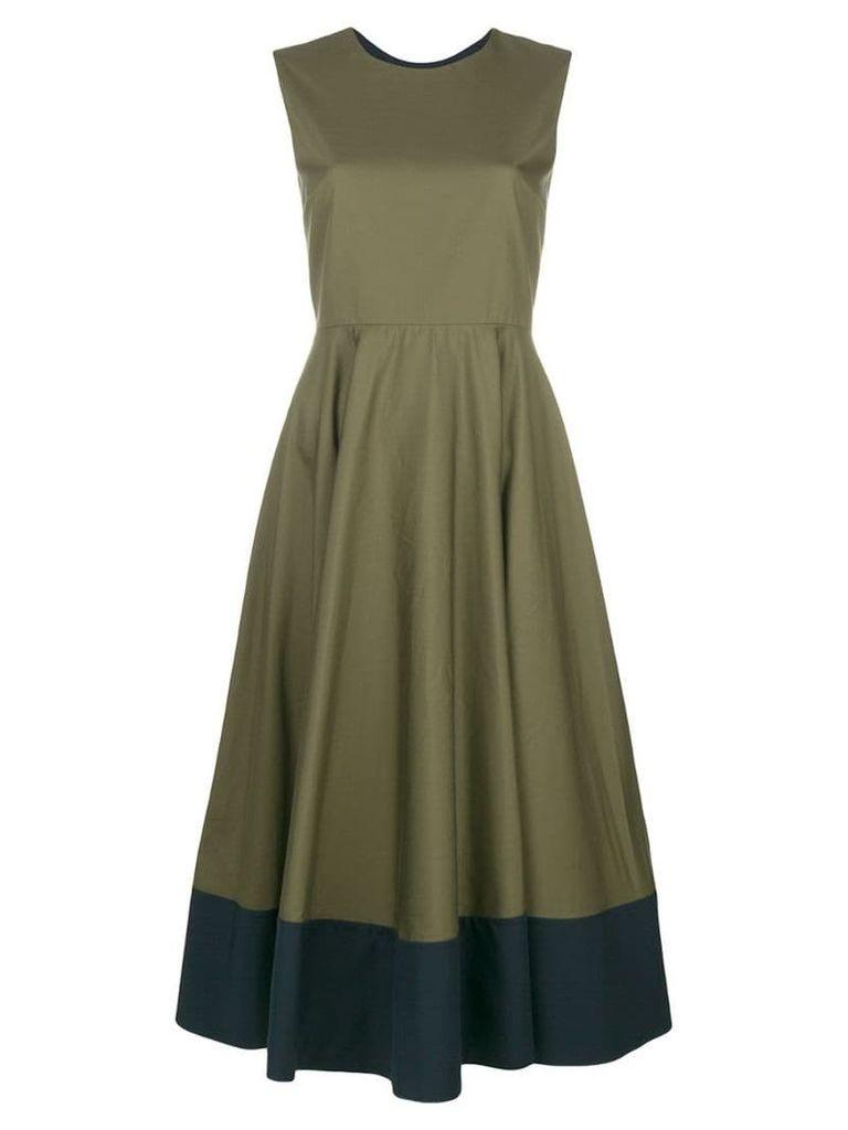 Roksanda contrast flared midi dress - Green