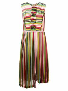 Nº21 striped pleated dress - Multicolour