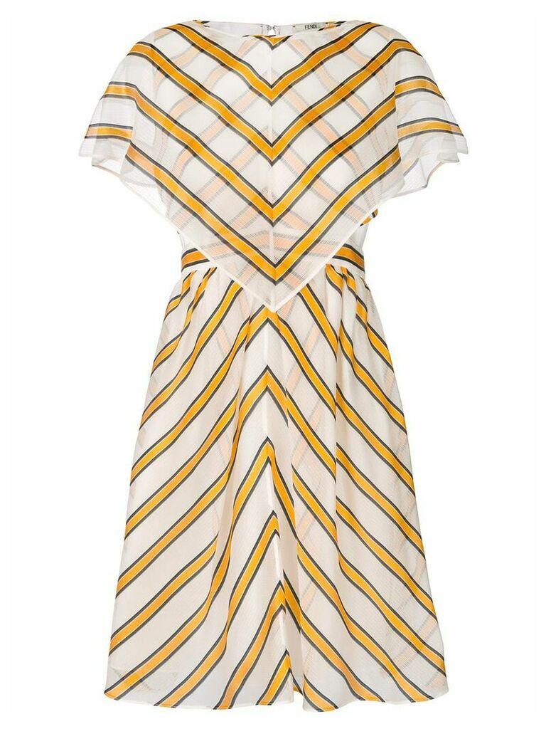 Fendi striped shift dress - White