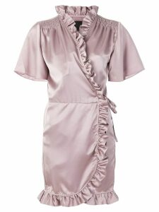 Iil7 ruffled wrap dress - Pink