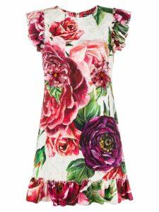Dolce & Gabbana floral print shift dress - White