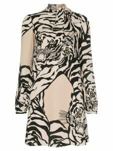 Valentino tiger print dress - Neutrals