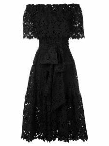 Bambah lace off shoulder dress - Black