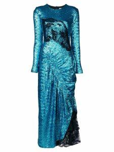 Preen By Thornton Bregazzi Dinah sequin draped dress - Blue