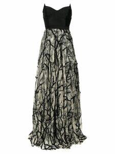 Tufi Duek bandeau gown - Black