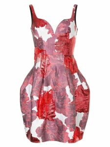 Paule Ka open-back floral dress - Red