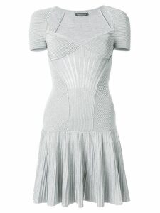 Alexander McQueen knit mini dress - Metallic