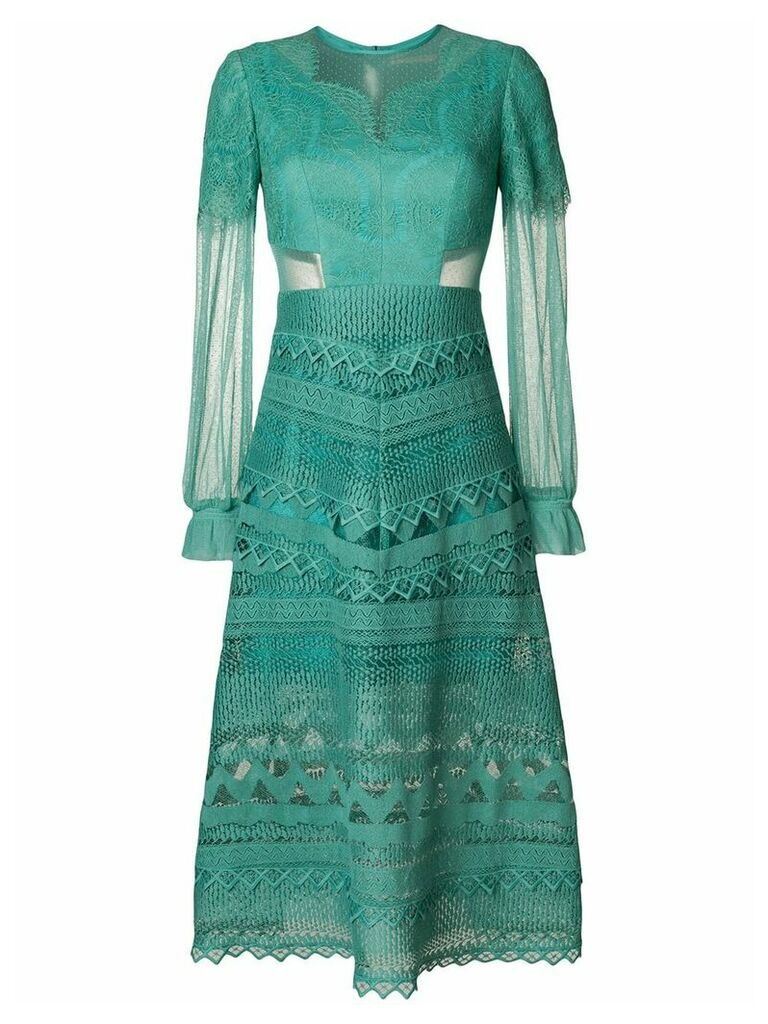Three Floor Lace Affinity dress - Green