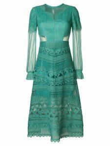 Three Floor Lace Affinity dress - Green