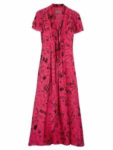 Burberry tie-neck maxi dress - Pink
