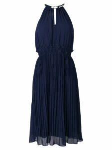 Michael Michael Kors pleated flared dress - Blue