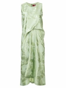 Sies Marjan brushed gathered dress - Sage
