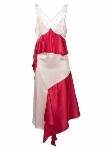 Each X Other ruffled asymmetric dress - Red