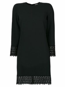 Dsquared2 dress with scalloped lace trim - Black