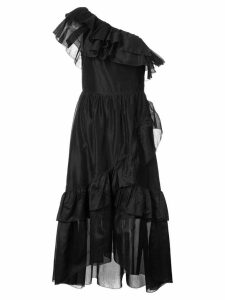 Ulla Johnson ruffle trim asymmetric dress - Black