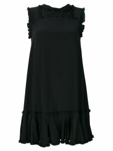 Ermanno Scervino frilled appliqué mini dress - Black