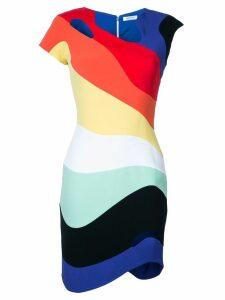Mugler rainbow wave bodycon dress - Multicolour