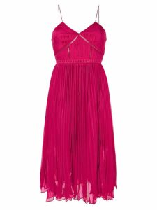 Self-Portrait pleated midi dress - Pink