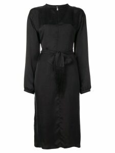 Forte Forte belted satin dress - Black