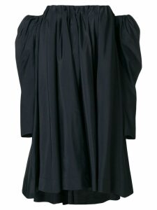 Calvin Klein 205W39nyc Ruched silk-blend bardot dress - Black