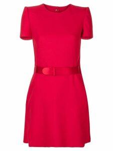 Alexander McQueen belted mini dress - Red