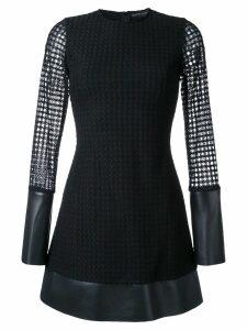David Koma lace layer mini dress - Black