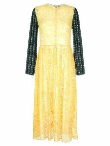 Shrimps Juno long sleeve dress - Yellow