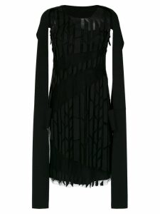 Gloria Coelho panelled cape dress - Black