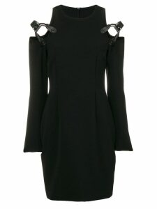 Moschino harness cold shoulder mini dress - Black