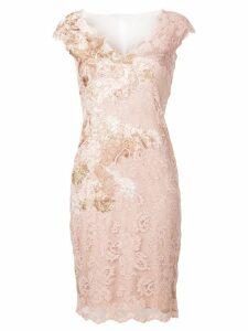 Olvi´S v-neck lace dress - Pink