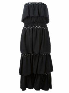 Sonia Rykiel strapless layered dress - Black