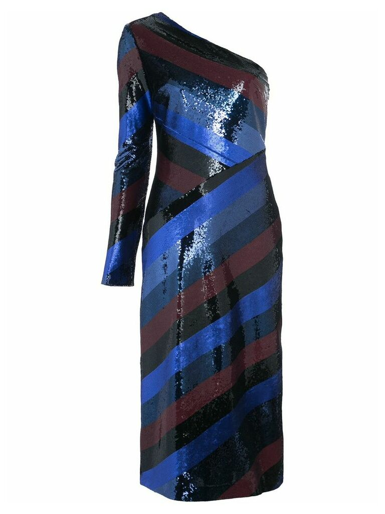 Dvf Diane Von Furstenberg one shoulder bias sequin dress - Multicolour