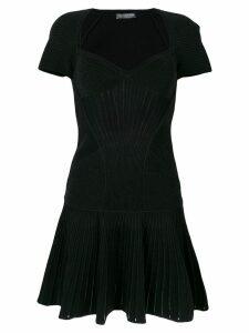 Alexander McQueen knitted mini dress - Black
