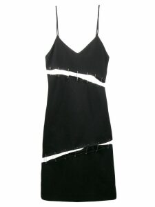 Beau Souci cutout safety pin slip dress - Black