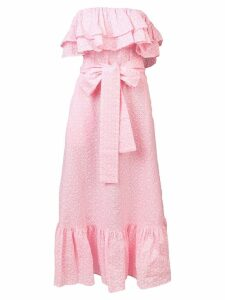 Lisa Marie Fernandez strapless ruffle midi dress - Pink