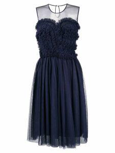 P.A.R.O.S.H. ruffled flared dress - Blue