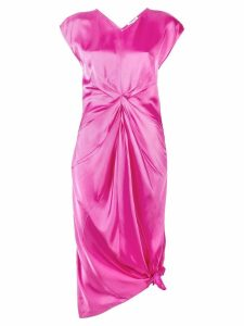 Helmut Lang knot silk dress - Pink