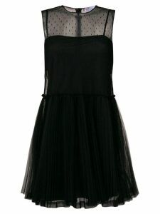 Red Valentino sheer tulle mini dress - Black