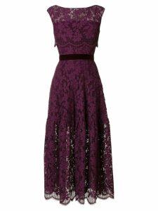 Talbot Runhof floral lace dress - Pink