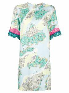 Emilio Pucci lace insert T-shirt dress - Multicolour