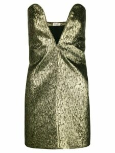 Saint Laurent textured mini dress - Metallic