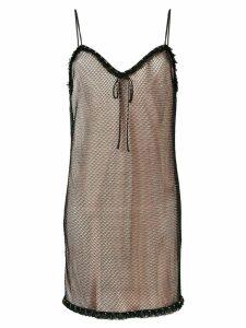 Miu Miu layered mesh cami dress - Black
