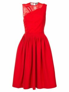 Preen By Thornton Bregazzi stretch satin cut out midi dress - Red