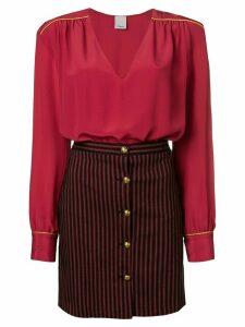 Pinko striped skirt dress - Red