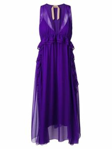Nº21 sleeveless flared midi dress - Purple