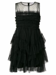Red Valentino ruffled tulle dress - Black