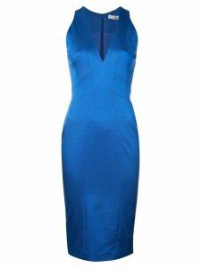 Zac Zac Posen fitted silhouette v-neck dress - Blue