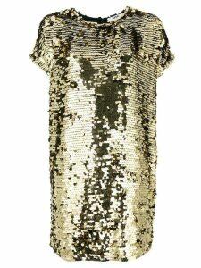 MSGM sequins embellished loose dress - Metallic